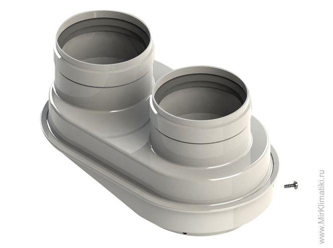 Раздельная система дымоудаления ∅ 80/80 мм